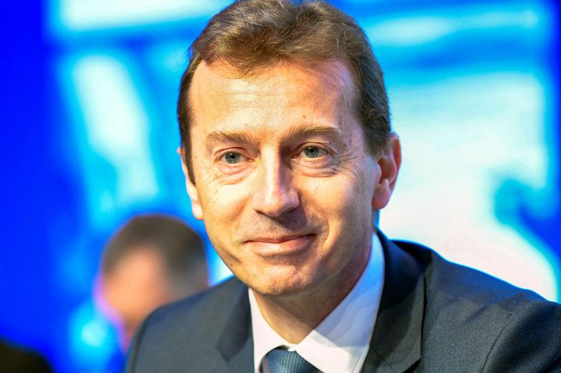 FILE PHOTO: President of Airbus Commercial Aircraft Guillaume Faury attends the Airbus annual general meeting in Amsterdam