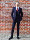 <p>Tom Hiddleston was the best dressed of the bunch in a pinstripe suit. <i>[Photo: Instagram/gucci]</i> </p>