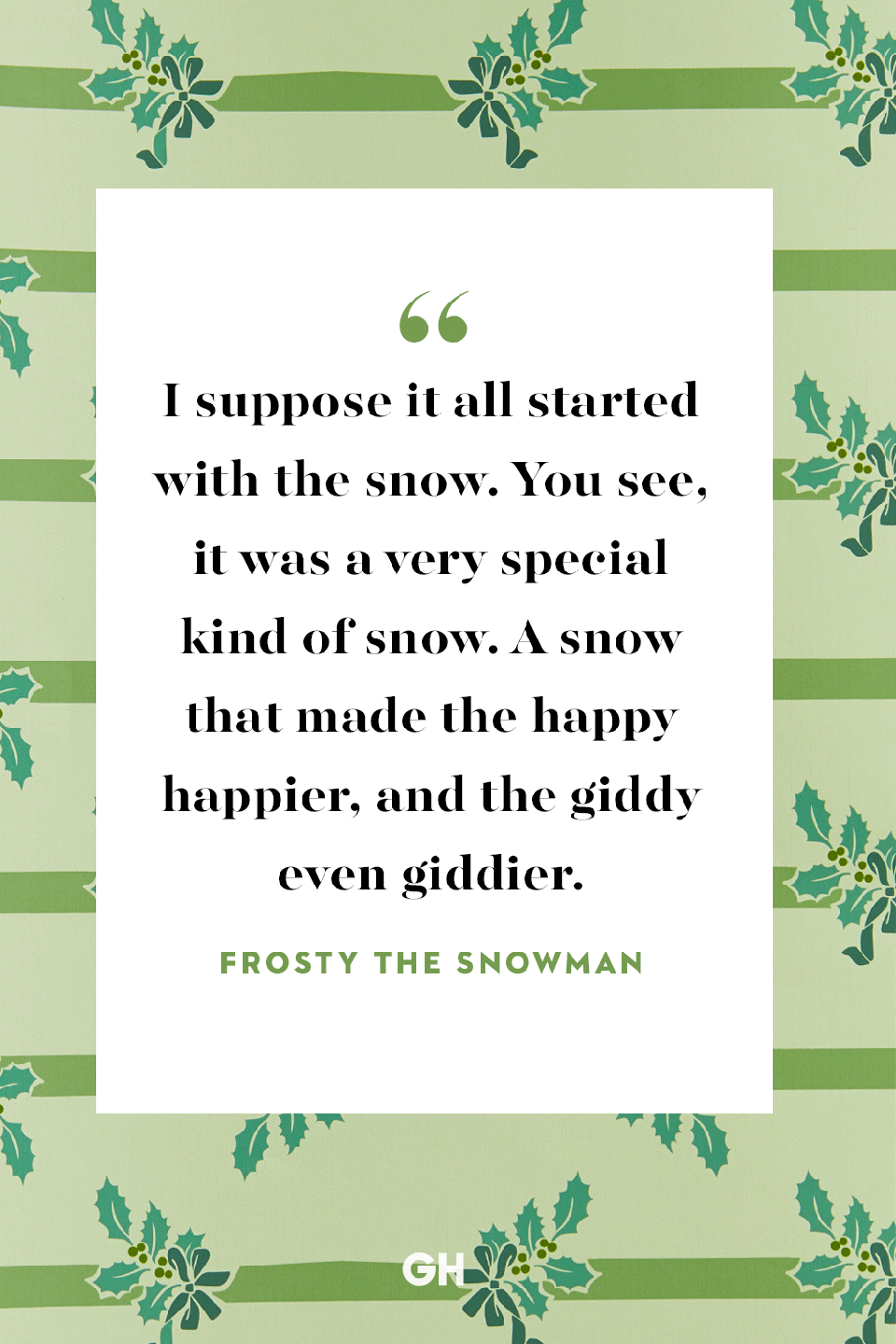 <p>I suppose it all started with the snow. You see, it was a very special kind of snow. A snow that made the happy happier, and the giddy even giddier. </p>