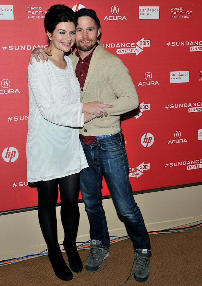 """PARK CITY, UT - JANUARY 21:  (L-R) Actors Casey Wilson and Brian Geraghty attend the """"Ass Backwards"""" premiere at Egyptian Theatre during the 2013 Sundance Film Festival on January 21, 2013 in Park City, Utah.  (Photo by Sonia Recchia/Getty Images)"""