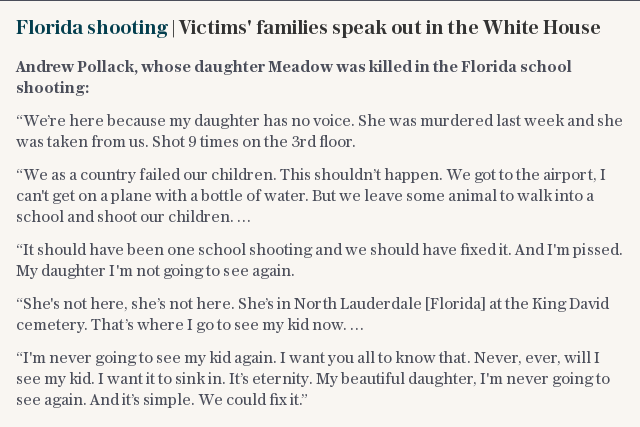Florida shooting | Victims' families speak out in the White House