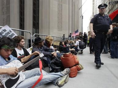 Protest on Wall Street