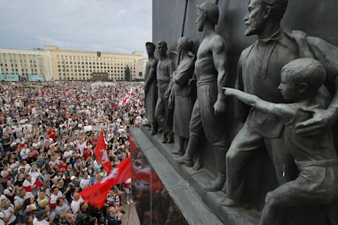 Anti-government protests have gripped Belarus since a disputed election result in early August. Photo: AP