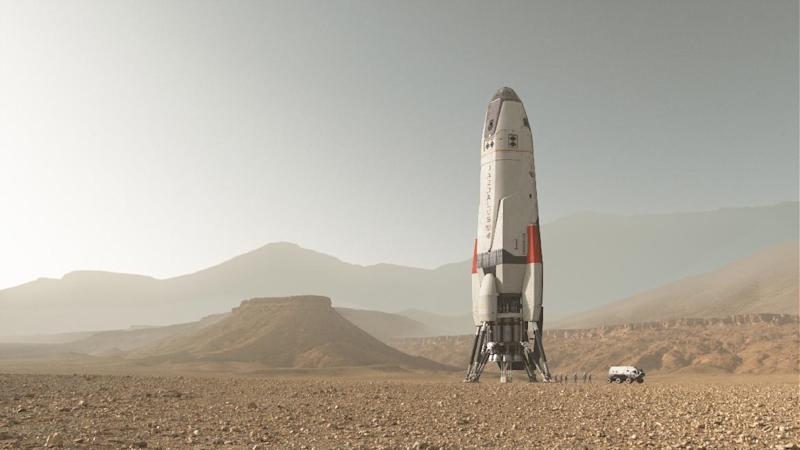 "This image released by National Geographic shows a scene from the series, ""Mars,"" premiering Monday at 9 p.m. ET on the National Geographic channel. The series brought together scientific consultants, director Everardo Gout, producer Justin Wilkes as showrunner, and executive producers Ron Howard and Brian Grazer. (National Geographic Channels via AP)"