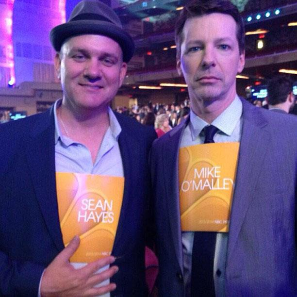 @nbcwelcome's Mike O'Malley and @seansavesworld Sean Hayes seem to be suffering from some sort of identity crisis.