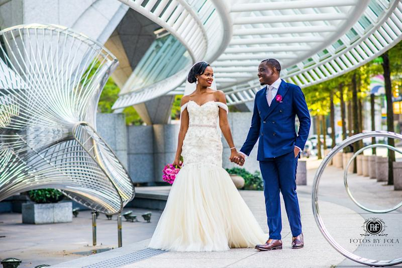 """Georgette and Edwin had a beautiful Cameroonian wedding."" -- <i>Afolabi Sogunro  </i><strong>  </strong>"
