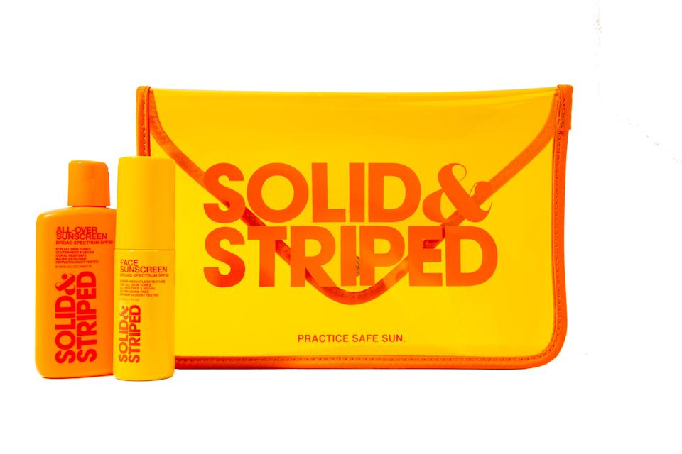 Solid & Striped travel kit; $38. solidandstriped.com