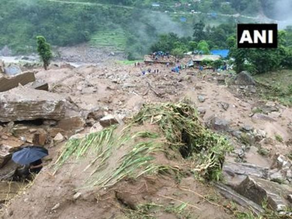 Visuals of the spot in Nepal's Sindhupalchowk district. [Photo/ANI]