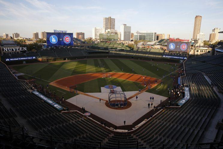 Good luck parking near Wrigley Field during the NLCS. (AP Photo/Nam Y. Huh)