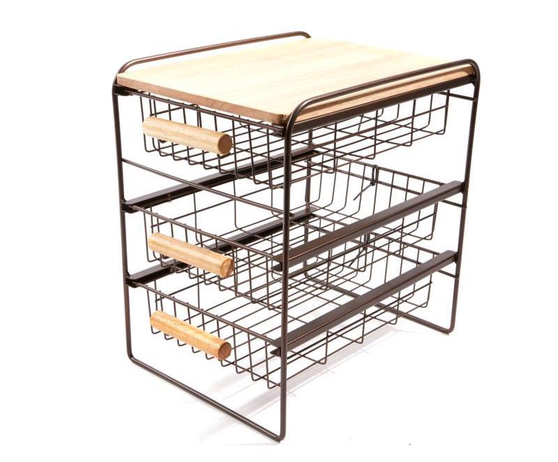 Origami 3-Drawer Countertop Organizer with Wooden Shelf. (Photo: HSN)