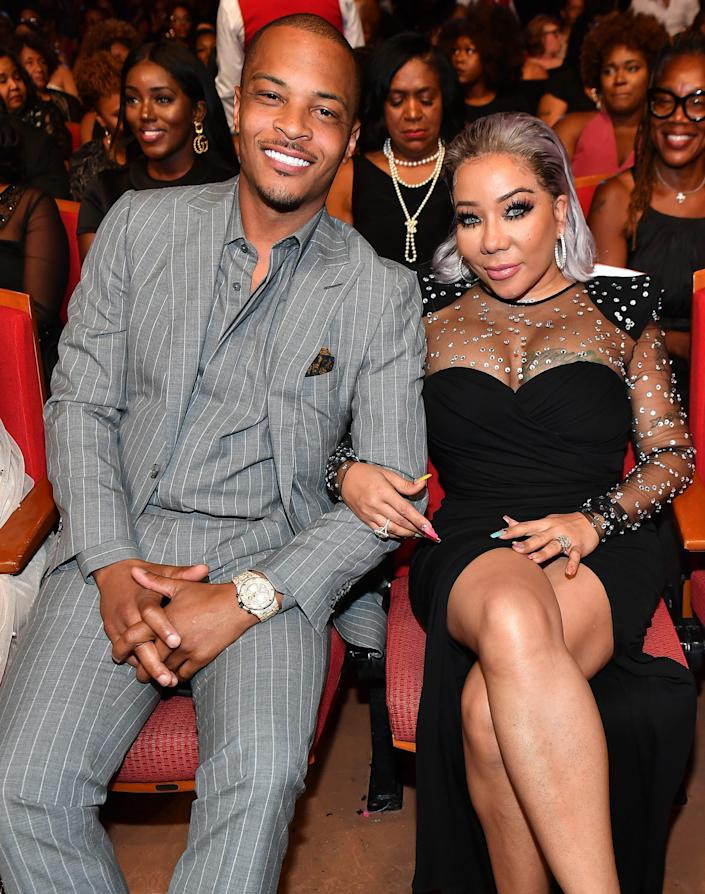 """T.I. and Tameka """"Tiny"""" Harris attend 2019 Black Music Honors at Cobb Energy Performing Arts Centre on September 5, 2019 in Atlanta, Georgia."""