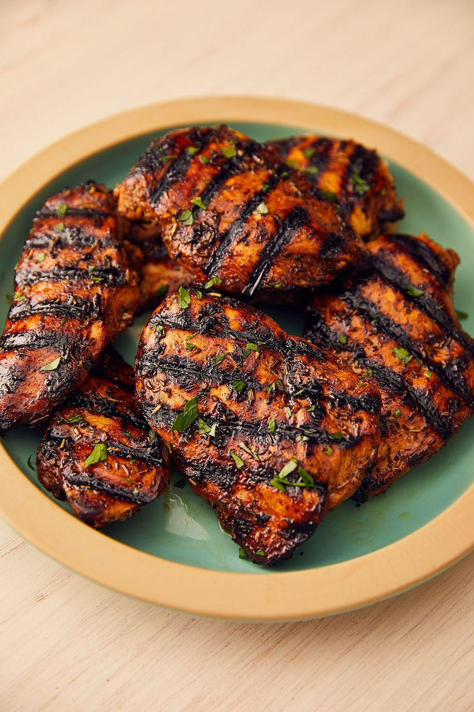 "<p>This marinade is the opposite of boring.</p><p>Get the recipe from <a href=""https://www.delish.com/cooking/recipe-ideas/a53483/best-grilled-chicken-breast-recipe/"" rel=""nofollow noopener"" target=""_blank"" data-ylk=""slk:Delish"" class=""link rapid-noclick-resp"">Delish</a>.</p>"