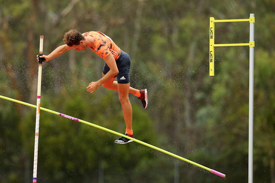 File: Australia's Kurtis Marschall competes during the Canberra Festival of Athletics on 28 January, 2019 (Getty Images)