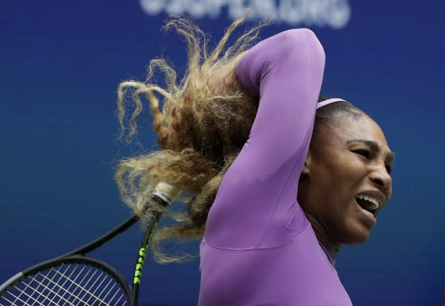 Serena Williams was beaten in straight sets by Bianca Andreescu in the women's singles final at the US Open (Adam Hunger/AP)