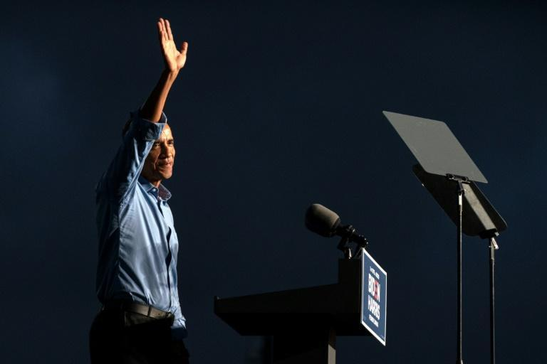"""Former US president Barack Obama told attendees of a drive-in Biden-Harris rally in Philadelphia that they """"can't be complacent"""" this election"""