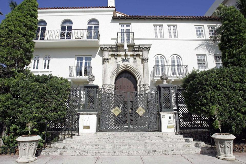 The mansion on Ocean Drive where Gianni Versace was shot dead in 1997 (AP)