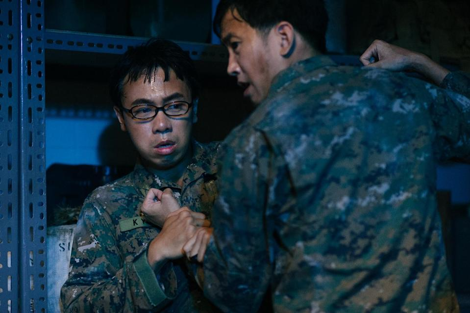 """Zombiepura"" draws drama from the conflict between slacker Corporal Tan Kayu and hard-ass Sergeant Lee Siao On. (Photo: Clover Films)"