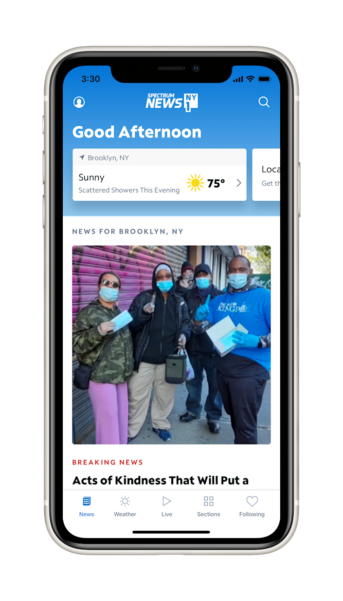 The Spectrum News App, officially launching Thursday, has video and text-based stories, as well as live video feeds from its 30-plus TV news networks.