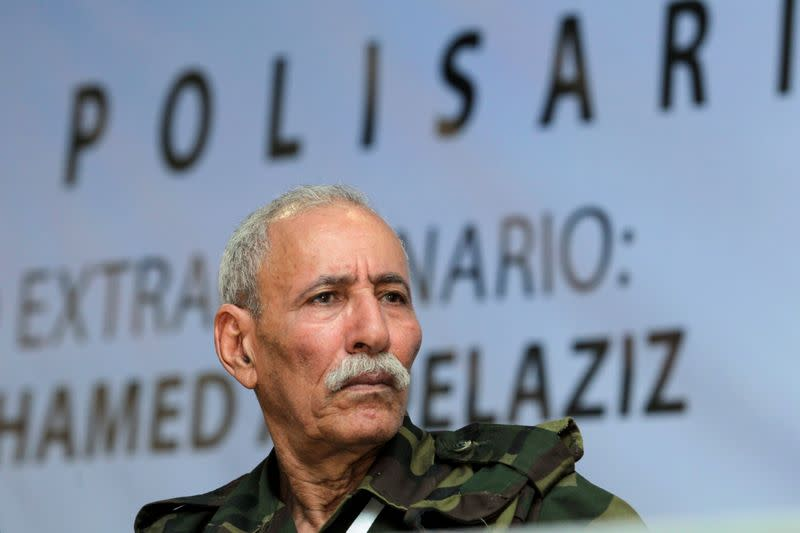 FILE PHOTO: Ghali reacts during an extraordinary congress at the Sahrawi refugee camp of Dakhla