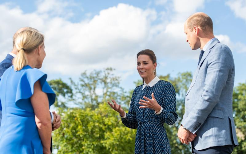 The Duke and Duchess of Cambridge during their visit to Queen Elizabeth Hospital in King's Lynn - PA