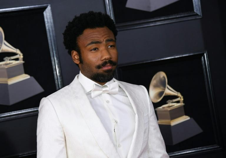 Childish Gambino arrives for the 60th Grammy Awards on January 28, 2018, in New York