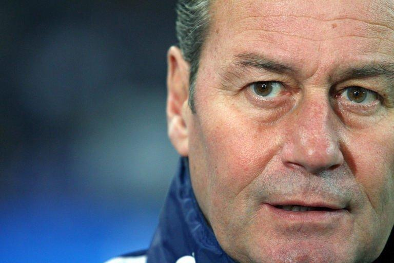 Schalke's Dutch head coach Huub Stevens attends the team's German first division Bundesliga football match against Freiburg in Gelsenkirchen, western Germany on December 15, 2012. Schalke 04 have sacked Stevens after their 3-1 defeat left them with two points in their last six Bundesliga games, the club announced