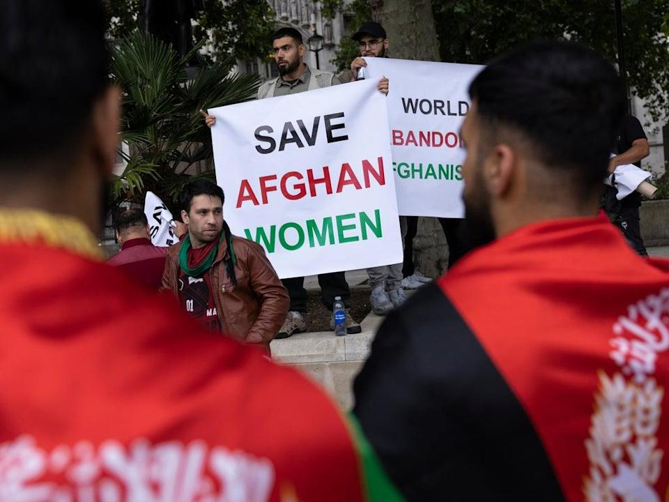 'The gut-wrenching catastrophe in Afghanistan is the kind of dystopia we used to rely on Margaret Atwood to conjure up in words – now it's on our TV screens every night' (Getty)