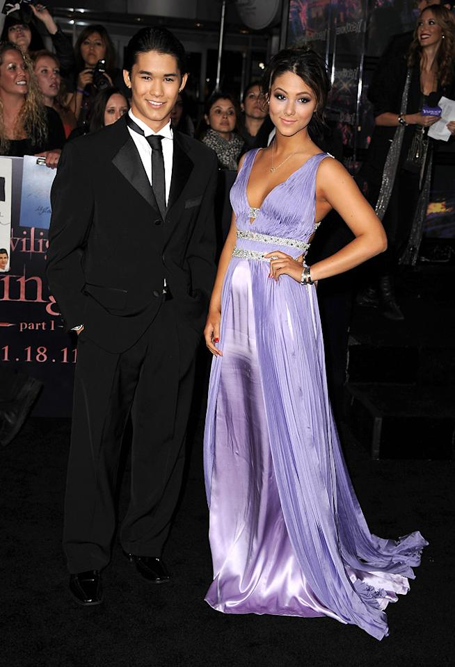 """Booboo Stewart and Fivel Stewart at the Los Angeles premiere of <a href=""""http://movies.yahoo.com/movie/1810158314/info"""">The Twilight Saga: Breaking Dawn - Part 1</a> on November 14, 2011."""