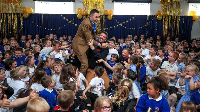 David Walliams visits Flakefleet Primary