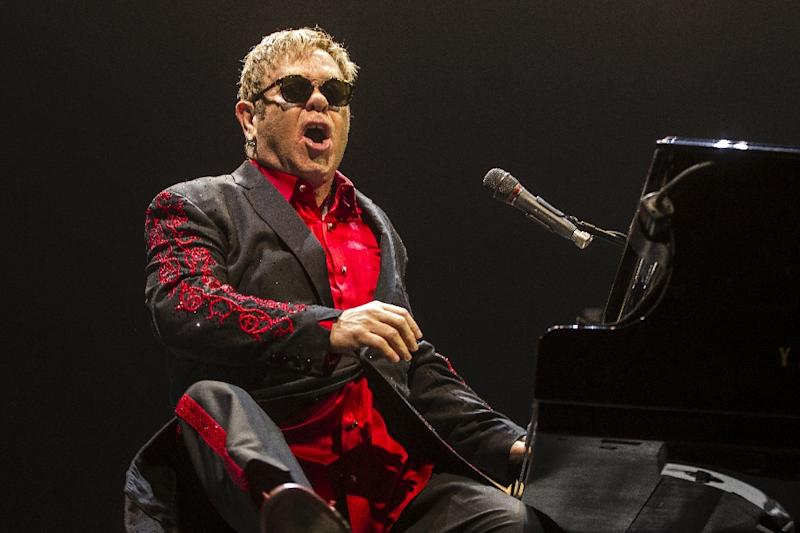 British singer-songwriter and composer, Sir Elton John performs on stage a the Ziggo Dome in Amsterdam November 22, 2016