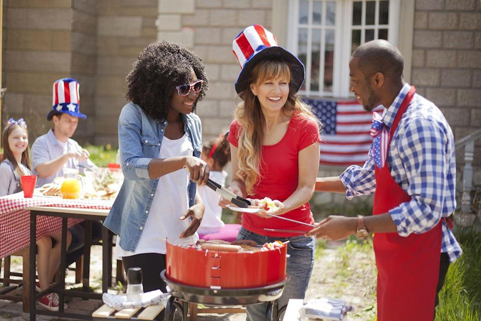 """<p>Gather the kids together and make a plan to create the ultimate backyard barbecue. Get decked out in red, white, and blue, and make <a href=""""https://www.countryliving.com/food-drinks/g3385/4th-of-july-appetizers/"""" rel=""""nofollow noopener"""" target=""""_blank"""" data-ylk=""""slk:patriotic dishes"""" class=""""link rapid-noclick-resp"""">patriotic dishes</a> that you can enjoy all day long. </p><p><strong>RELATED: <a href=""""https://www.countryliving.com/food-drinks/g31/best-grilling-recipes/"""" rel=""""nofollow noopener"""" target=""""_blank"""" data-ylk=""""slk:90+ of Our Favorite Grilling Recipes for Backyard Barbecues and Beyond"""" class=""""link rapid-noclick-resp"""">90+ of Our Favorite Grilling Recipes for Backyard Barbecues and Beyond</a></strong></p><p><a class=""""link rapid-noclick-resp"""" href=""""https://www.amazon.com/Party-Dimensions-Paper-Plate-Bundle/dp/B071FMYZCY/ref=sr_1_34?dchild=1&keywords=4th+of+july+paper+plates&qid=1621522015&s=home-garden&sr=1-34&tag=syn-yahoo-20&ascsubtag=%5Bartid%7C10050.g.4463%5Bsrc%7Cyahoo-us"""" rel=""""nofollow noopener"""" target=""""_blank"""" data-ylk=""""slk:SHOP 4th OF JULY PAPER PLATES"""">SHOP 4th OF JULY PAPER PLATES</a></p>"""
