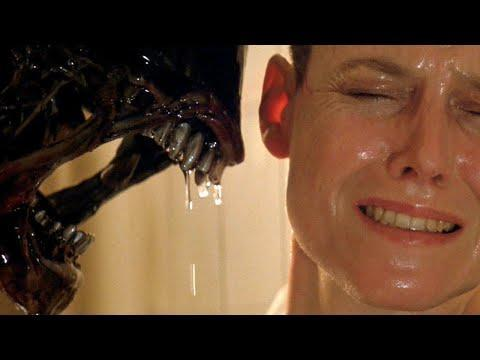 """<p>Is there any science fiction shot as iconic as the moment in Alien 3 when the titular alien bestows a slimy kiss on the cheek of a cowering Sigourney Weaver? Forty years and six movies later, the alien's hijinks never get old—or any less blood-curdling. Each film features a cat and mouse game between new gangs of interstellar travelers, who get progressively dumber, and our old pal the xenomorph, whose familiar tricks include slicing through metal and bone with its acidic blood, chomping on people's faces, and bursting merrily from the chests of their hosts. If those visuals didn't horrify you enough, check out the <a href=""""https://www.youtube.com/watch?v=bM_5kNPCHDc"""" rel=""""nofollow noopener"""" target=""""_blank"""" data-ylk=""""slk:ending"""" class=""""link rapid-noclick-resp"""">ending</a> of <em>Alien: Resurrection</em>, where a newborn xenomorph is violently atomized into space through a hole in the spaceship's hull. Truly the stuff of nightmares. <em>—</em><em>Adrienne Westenfeld</em></p><p><a class=""""link rapid-noclick-resp"""" href=""""https://www.amazon.com/Alien-Sigourney-Weaver/dp/B003GXJ072/ref=sr_1_1?dchild=1&keywords=alien+movie&qid=1603419708&s=instant-video&sr=1-1&tag=syn-yahoo-20&ascsubtag=%5Bartid%7C10054.g.34360891%5Bsrc%7Cyahoo-us"""" rel=""""nofollow noopener"""" target=""""_blank"""" data-ylk=""""slk:Watch now"""">Watch now</a><br></p><p><a href=""""https://www.youtube.com/watch?v=3szrQgaZhho"""" rel=""""nofollow noopener"""" target=""""_blank"""" data-ylk=""""slk:See the original post on Youtube"""" class=""""link rapid-noclick-resp"""">See the original post on Youtube</a></p>"""