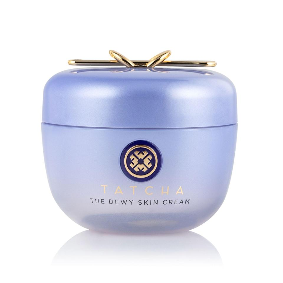 """<p><strong>Tatcha</strong></p><p>tatcha.com</p><p><strong>$54.40</strong></p><p><a href=""""https://go.redirectingat.com?id=74968X1596630&url=https%3A%2F%2Fwww.tatcha.com%2Fproduct%2Fdewy-skin-cream%2FDS-CREAM.html&sref=https%3A%2F%2Fwww.harpersbazaar.com%2Fbeauty%2Fskin-care%2Fg37611110%2Ftatcha-friends-family-sale%2F"""" rel=""""nofollow noopener"""" target=""""_blank"""" data-ylk=""""slk:Shop Now"""" class=""""link rapid-noclick-resp"""">Shop Now</a></p><p>With more than 1,900 customer reviews and a near-perfect five-star rating, this celebrity-favorite cream is a must-have. Shoppers are raving about how the coveted moisturizer is """"fully hydrating without being sticky, and leaves a lasting glow.""""</p>"""