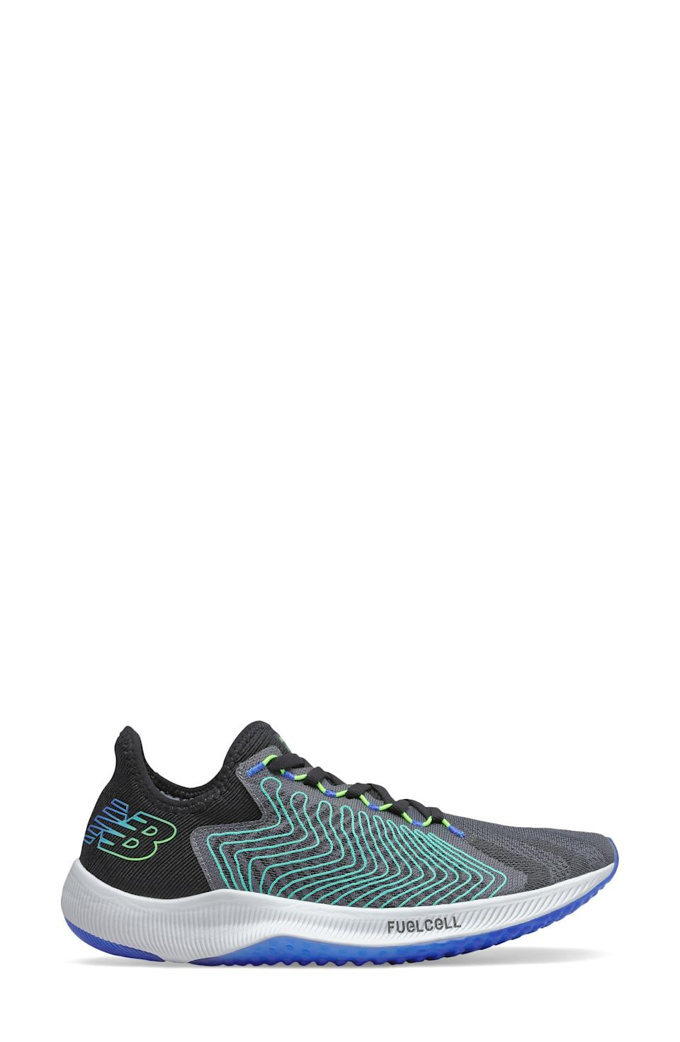 """<p><strong>NEW BALANCE</strong></p><p>nordstrom.com</p><p><a href=""""https://go.redirectingat.com?id=74968X1596630&url=https%3A%2F%2Fwww.nordstrom.com%2Fs%2Fnew-balance-fuelcell-rebel-running-shoe-men%2F5955973&sref=https%3A%2F%2Fwww.menshealth.com%2Fstyle%2Fg37081969%2Fnordstroms-anniversary-sale-best-sneakers%2F"""" rel=""""nofollow noopener"""" target=""""_blank"""" data-ylk=""""slk:BUY IT HERE"""" class=""""link rapid-noclick-resp"""">BUY IT HERE</a></p><p><del>$130<br></del><strong>$84.90</strong></p><p>Ready to <em>literally </em>go the extra mile? Between the lightweight construction and propulsive, nitrogen-infused FuelCell foam soles, New Balance's FuelCell Rebel sneakers will have you do just that. </p>"""