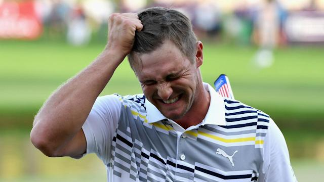 """Despite leading the Dubai Desert Classic at 16 under through three rounds, Bryson DeChambeau believes he is """"under-performing""""."""