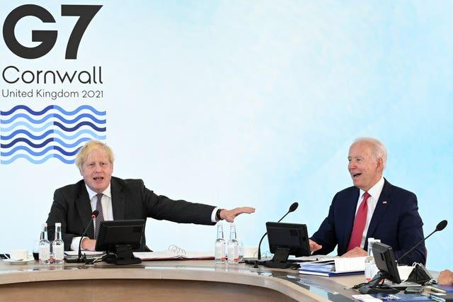 Prime Minister Boris Johnson hosted US President Joe Biden and other world leaders in Carbis Bay (Leon Neal/PA).
