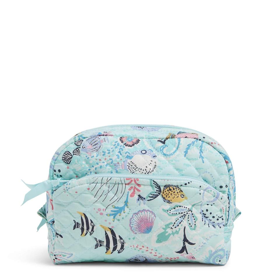 """<h2>Up to 30% Off Vera Bradley</h2><br>Did you go to one of those high schools where everyone carried a Vera Bradley bag? No? Just me? Anyway, the die-hard preppy handbag, luggage, and accessories imprint is up to 30% off for Prime Day — are we have to admit that we're still feeling a lot of the romantic, nature-inspired prints.<br><br><em>Shop Vera Bradley at <strong><a href=""""https://amzn.to/3qidYPo"""" rel=""""nofollow noopener"""" target=""""_blank"""" data-ylk=""""slk:Amazon"""" class=""""link rapid-noclick-resp"""">Amazon</a></strong></em><br><br><strong>Vera Bradley</strong> Makeup Bag, $, available at <a href=""""https://amzn.to/3gKYali"""" rel=""""nofollow noopener"""" target=""""_blank"""" data-ylk=""""slk:Amazon"""" class=""""link rapid-noclick-resp"""">Amazon</a>"""