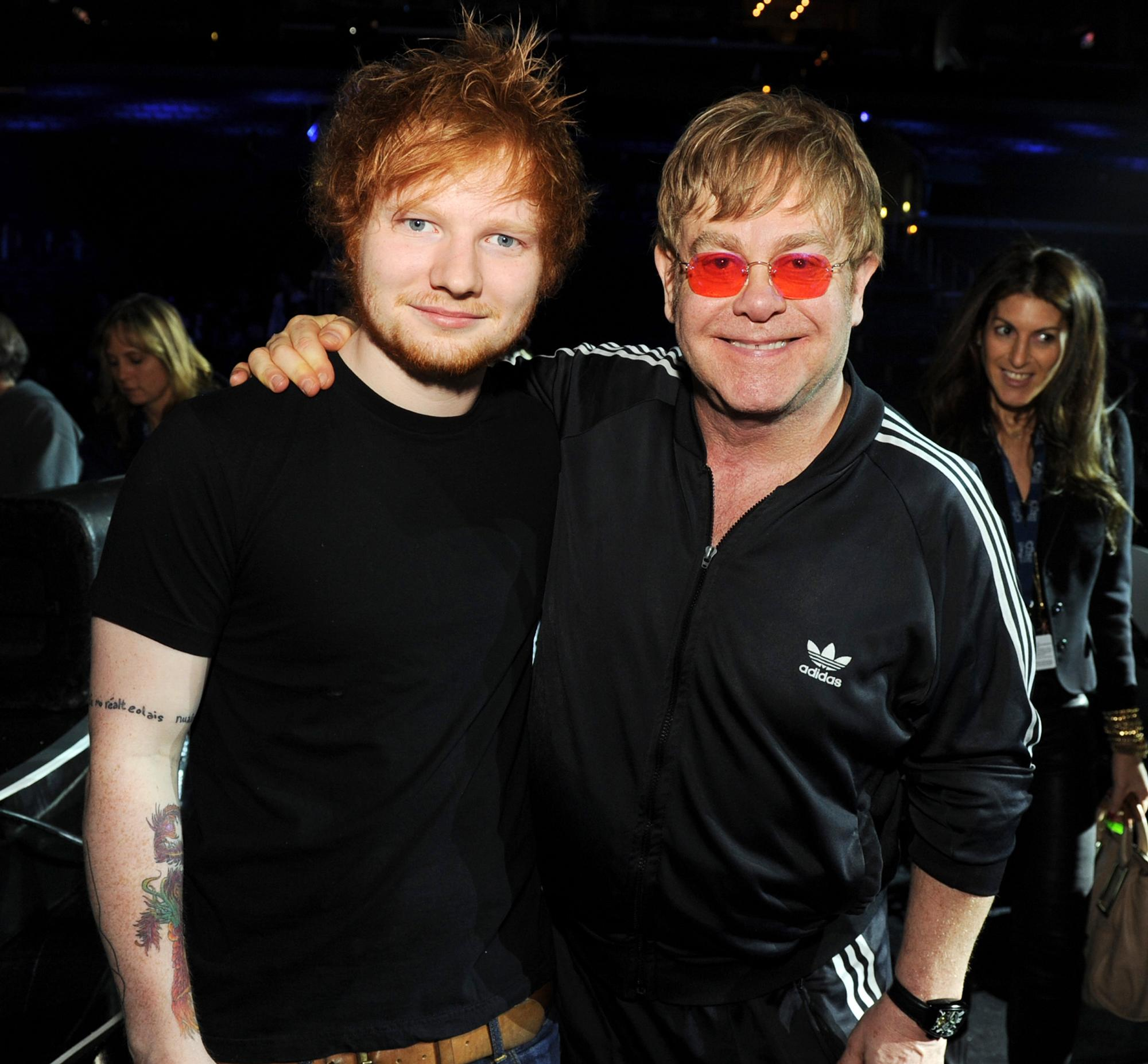 BRITs viewers utterly baffled by what Elton John called Ed Sheeran