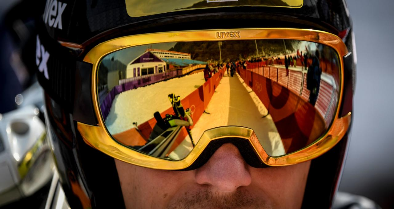 <p>Germany's Josef Ferstl waits to take part in the Men's Downhill 3rd training at the Jeongseon Alpine Center during the Pyeongchang 2018 Winter Olympic Games in Pyeongchang on February 10, 2018. </p>