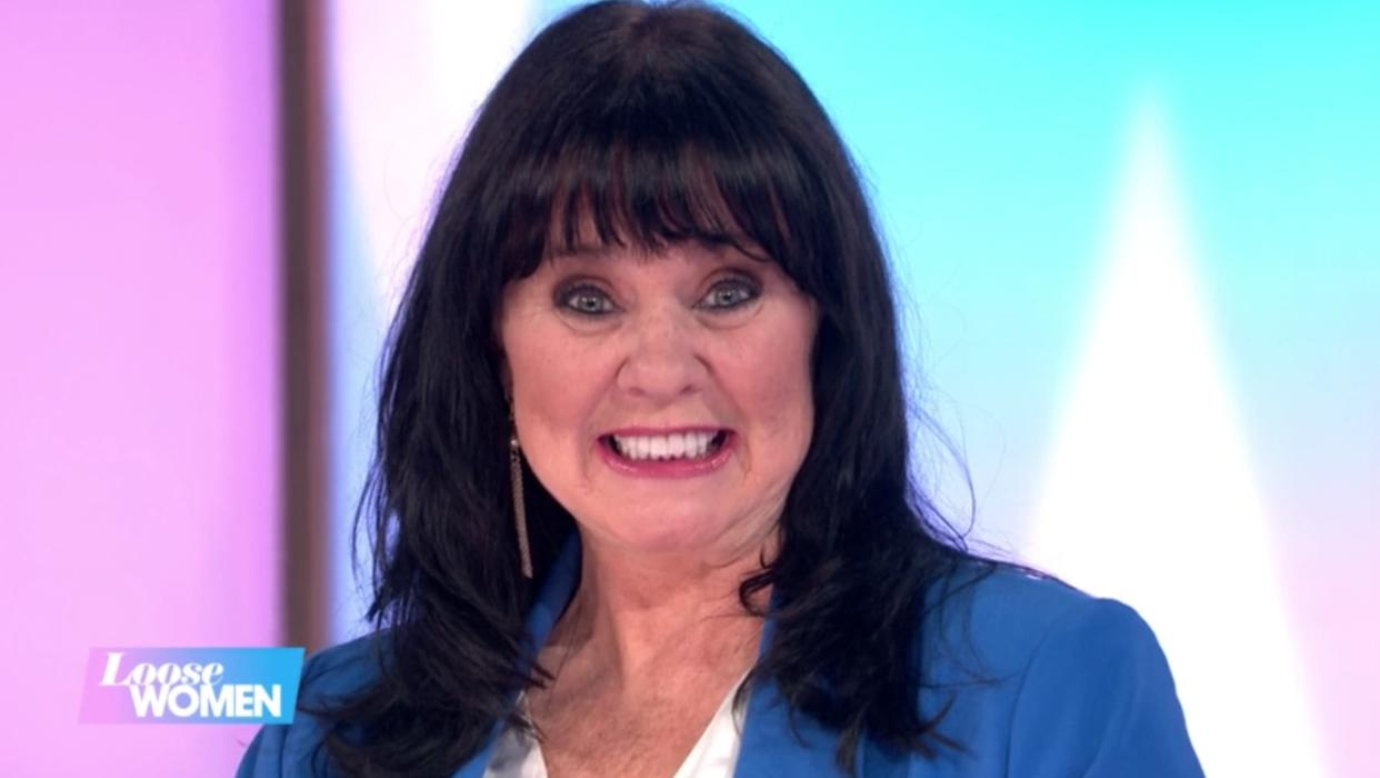 Coleen Nolan couldn't stop grinning at the start of the show. (ITV/Loose Women)