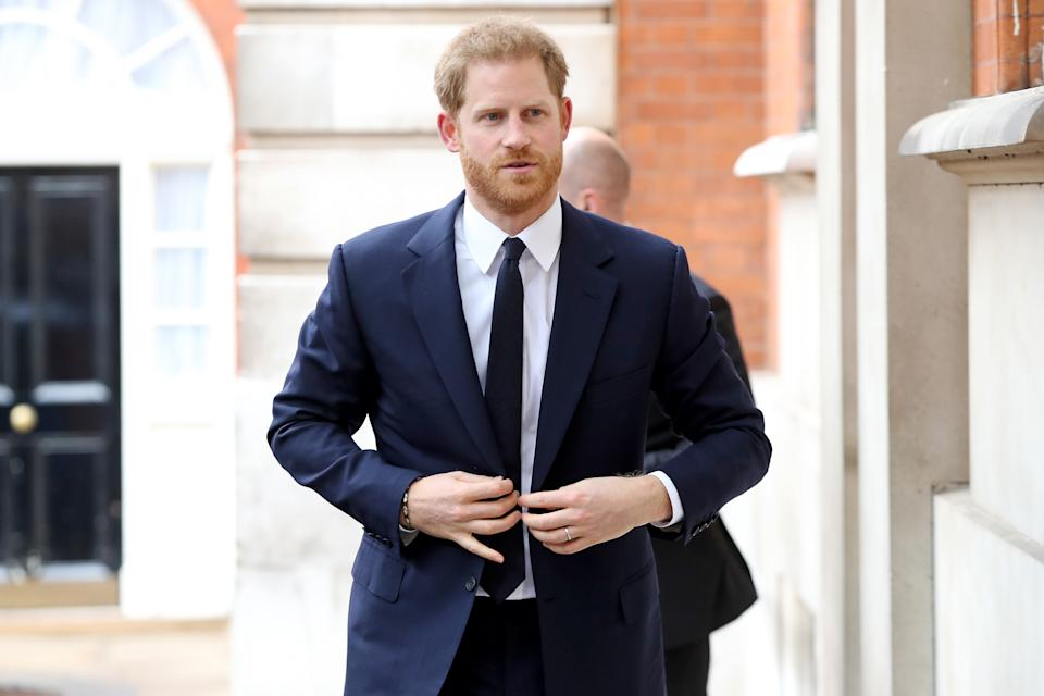 The Duke of Sussex attends a garden party to celebrate the 70th anniversary of the Commonwealth, held at Marlborough House, London.