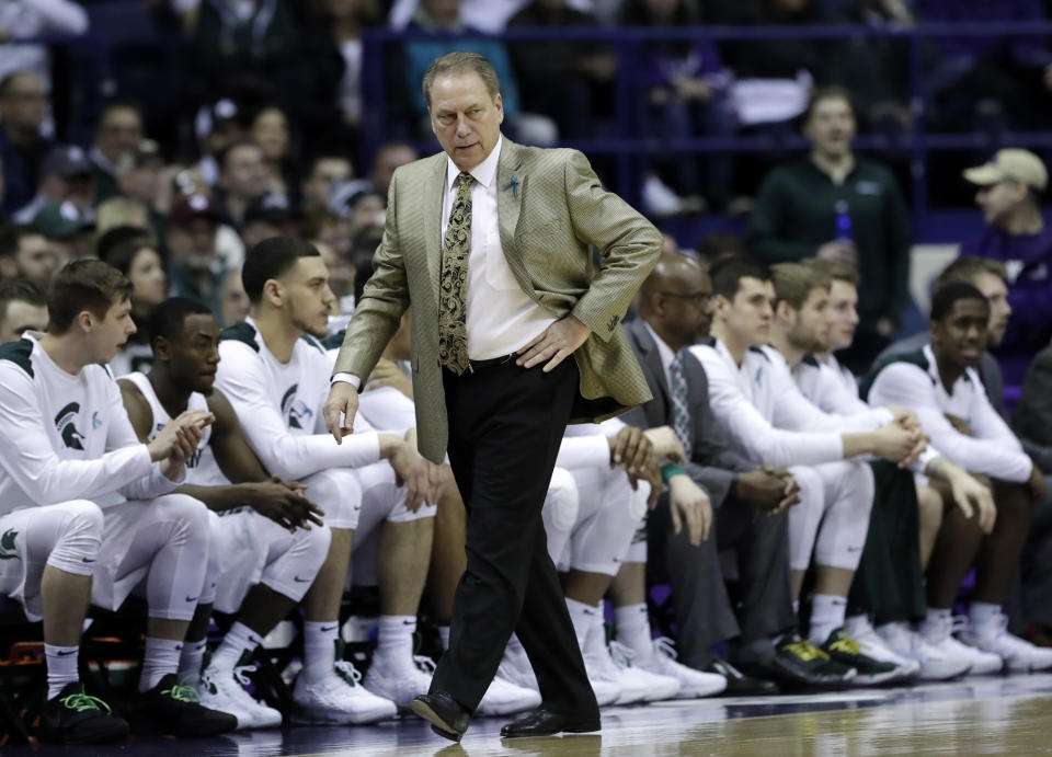 Will Tom Izzo and Michigan State benefit from an earlier conference tournament? (AP)