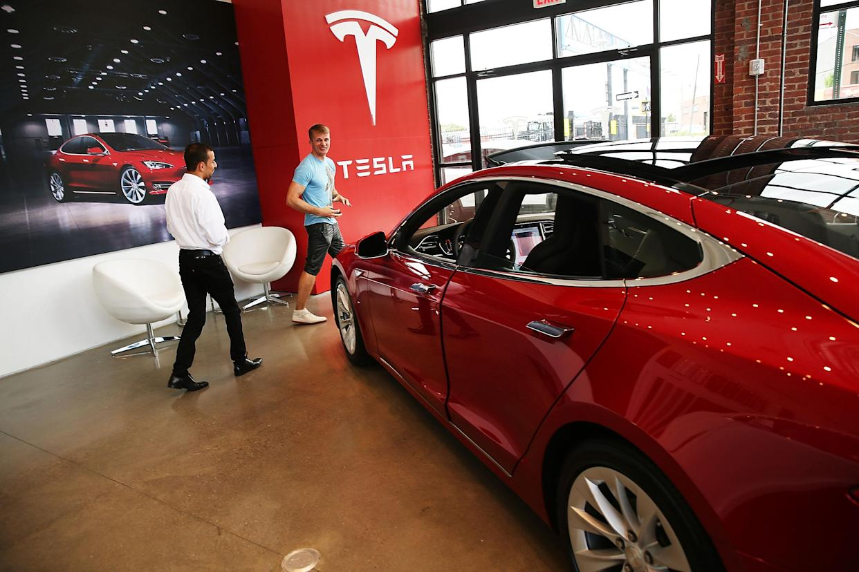 Tesla reported third-quarter delivery results ahead of earnings later this month. (Photo by Spencer Platt/Getty Images)