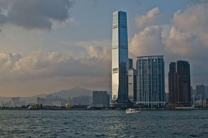 <p><strong>Location:</strong> Hong Kong, China</p><p><strong>Height:</strong> 1,588 feet</p><p><strong>Completion Date:</strong> 2010</p><p>This big building was a big gamble for its developers, given its relative isolation from the rest of Hong Kong's high-rises, but the International Commerce Center is doing just fine. The mixed-use office and hotel building has a 97 percent occupancy rate and excellent in-building services such as a 24-hour concierge.</p><p>According to the 2009 book <em>Exploring Hong Kong: A Visitor's Guide to Hong Kong Island, Kowloon, and the New Territories</em>, ICC's designers had wanted to make it the tallest building then on the planet. But a local ordinance, which outlaws structures from rising higher than nearby mountains, stymied the dream.</p>