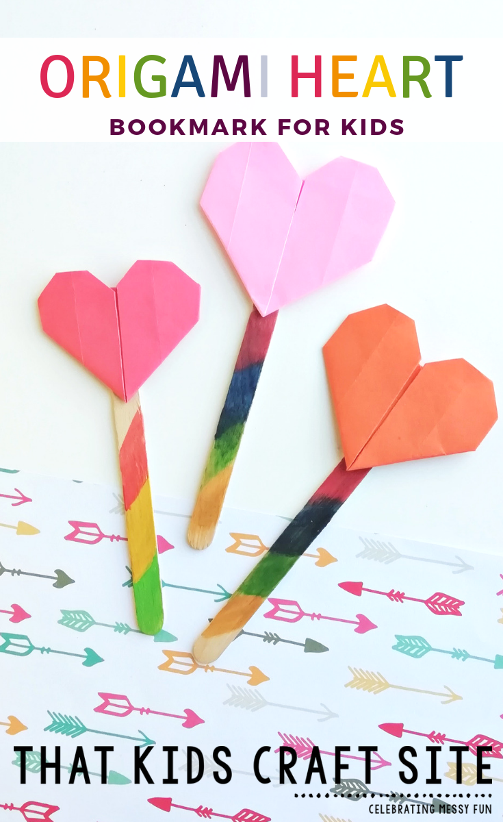 """<p>For every gripping page-turner, she'll have a place to mark her spot and a loving little reminder of the thoughtful kids behind these bookmarks. </p><p><strong>Get the tutorial at <a href=""""https://thatkidscraftsite.com/origami-heart-bookmark/"""" rel=""""nofollow noopener"""" target=""""_blank"""" data-ylk=""""slk:That Kids Craft Site"""" class=""""link rapid-noclick-resp"""">That Kids Craft Site</a>. </strong></p><p><strong><a class=""""link rapid-noclick-resp"""" href=""""https://www.amazon.com/Origami-Premium-Quality-Included-download/dp/B00DUSKPUE/?tag=syn-yahoo-20&ascsubtag=%5Bartid%7C10050.g.4233%5Bsrc%7Cyahoo-us"""" rel=""""nofollow noopener"""" target=""""_blank"""" data-ylk=""""slk:SHOP ORIGAMI PAPER"""">SHOP ORIGAMI PAPER</a><br></strong></p>"""