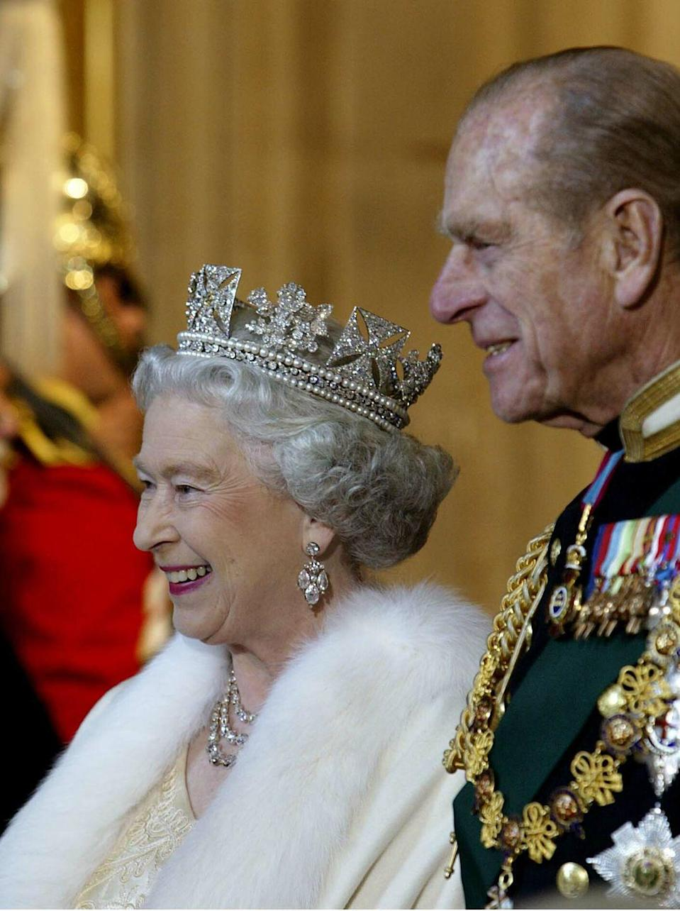 """<p>In February, England celebrated the queen's Golden Jubilee — <a href=""""https://www.goodhousekeeping.com/life/entertainment/g2730/queen-elizabeth-ii-young-rare-photos/"""" rel=""""nofollow noopener"""" target=""""_blank"""" data-ylk=""""slk:50 years on the throne"""" class=""""link rapid-noclick-resp"""">50 years on the throne</a>. In her jubilee speech, she publicly credited her husband: """"I take this opportunity to mention the strength I draw from my own family. The Duke of Edinburgh has made an invaluable contribution to my life over these past 50 years."""" </p>"""
