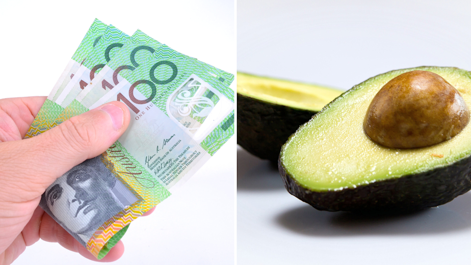 Pictured: Australian cash and an avocado. Images: Getty