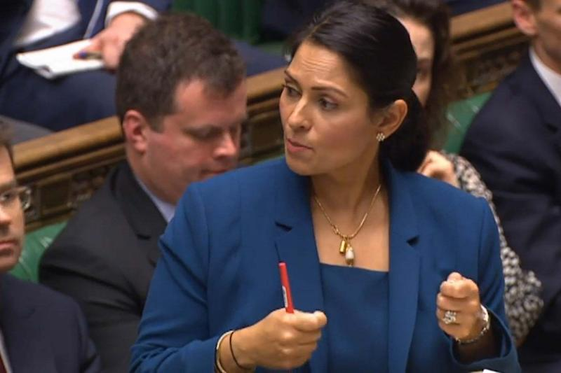 """Blunt message: Priti Patel said """"pen pushers"""" would be held to account in a speech at a police chiefs conference in London today: PA"""