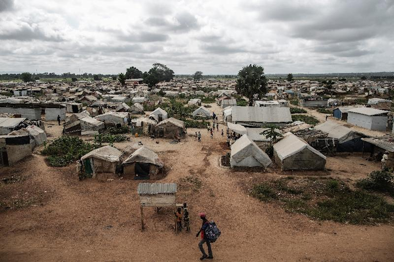 A view of the Mpoko camp in Bangui, on November 26, 2015