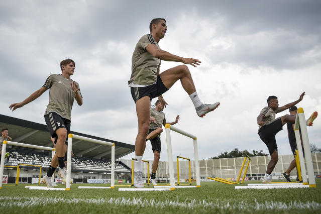 Ronaldo during a Juventus training session.